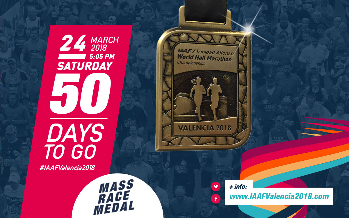 50 days before the World Half Marathon Championships Valencia 2018